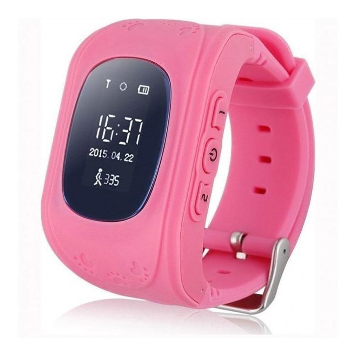 GPS Παιδικό Ρολόι Χειρός με SOS & Βηματομετρητή – OEM Q50 – ΡΟΖ