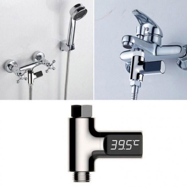Ψηφιακό Θερμόμετρο Βρύσης με Οθόνη LCD - Digital Shower Thermometer with LED Display