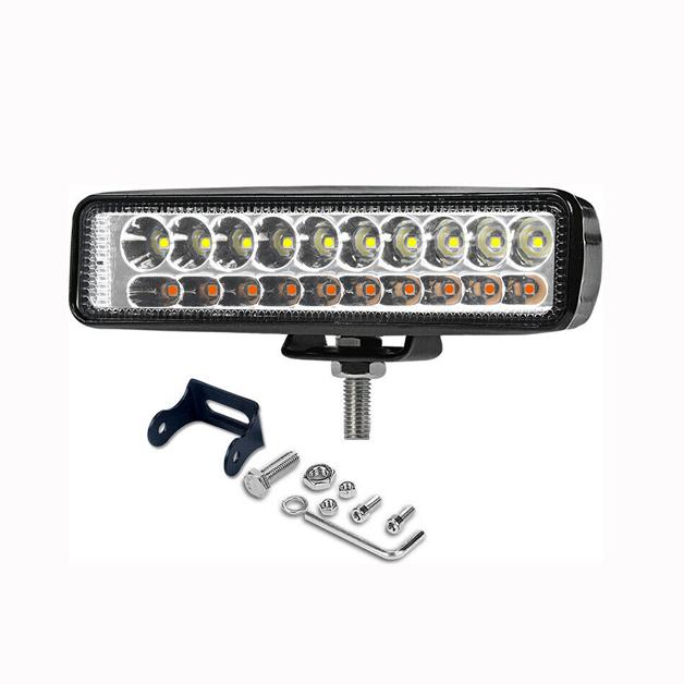 Προβολέας LED 54W με Φλας δουλεύει από 12V έως καί 32V για βάρκες τρακτέρ φορτηγά αυτοκίνητα