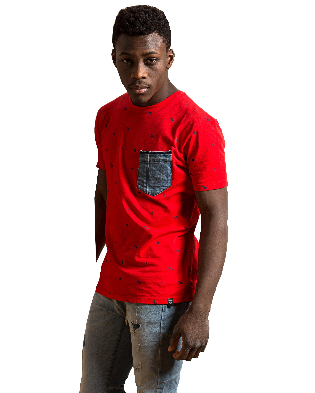 Ανδρικό t-shirt TRESOR 204048 κόκκινο χρώμα