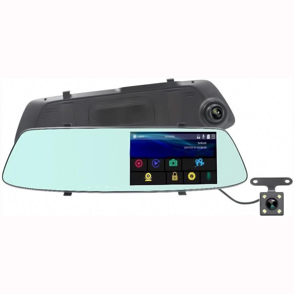 Καθρέφτης αυτοκινήτου με 2 HD DVR κάμερες και οθόνη LCD 5