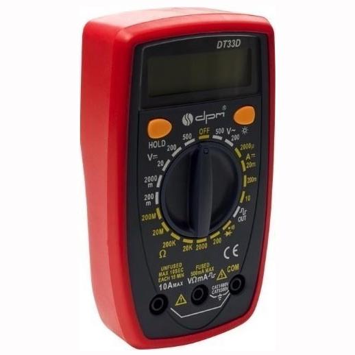 Ψηφιακό Πολύμετρο με Buzzer – DT33D