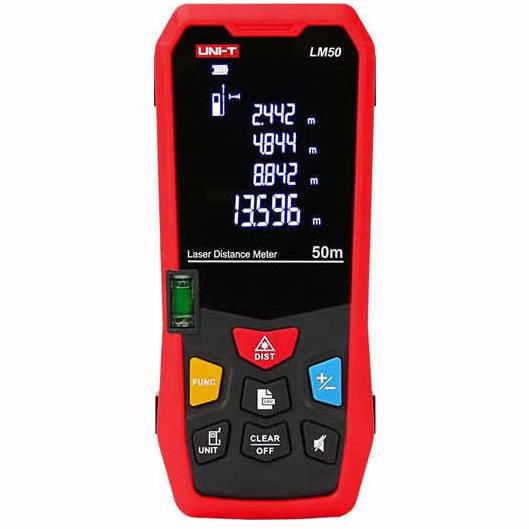 Ψηφιακός Μετρητής Απόστασης με Laser έως 50m Uni-T LM50
