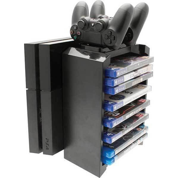 Games Tower Stand Dobe & Twin Charging Docking Station Βάση Φορτιστής – PS4 Console / X-ONE S