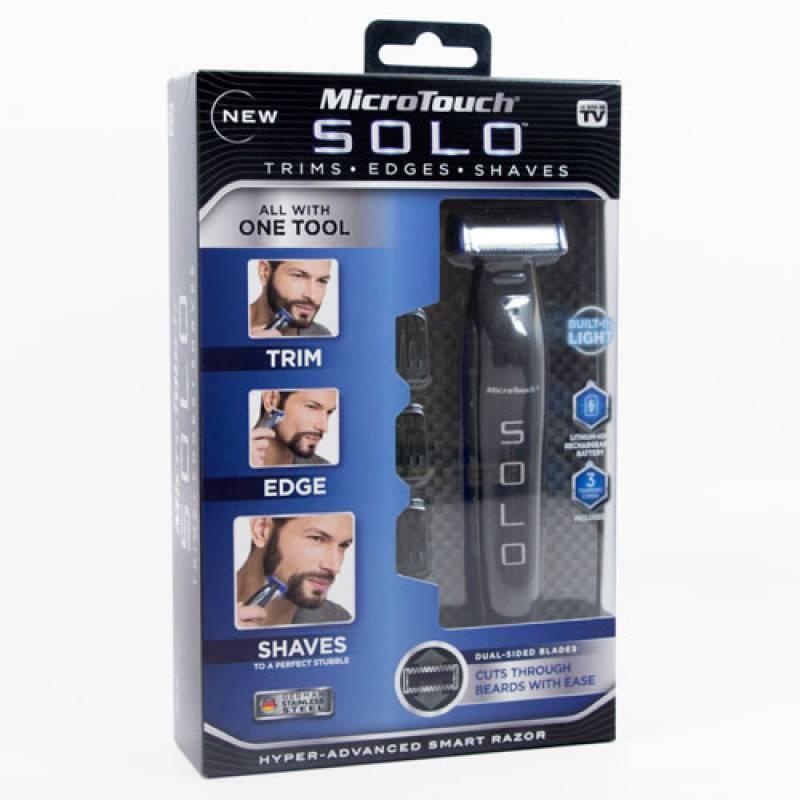 Επαναφορτιζόμενη Ξυριστική Κουρευτική Μηχανή & Trimmer – Micro Touch Solo