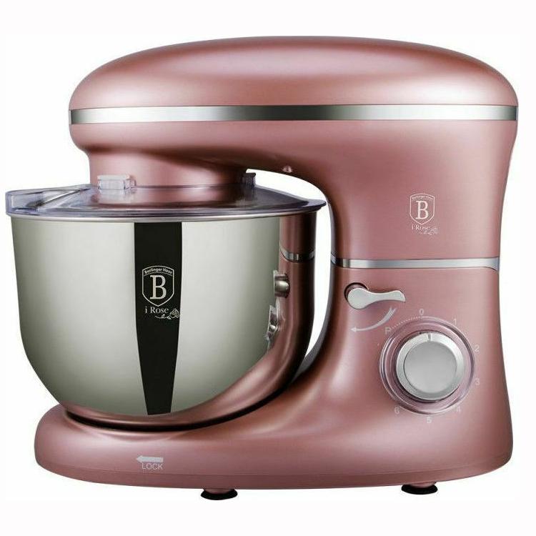 Berlinger Haus BH-9198 Κουζινομηχανή 1300W με Ανοξείδωτο Κάδο 6lt Ροζ