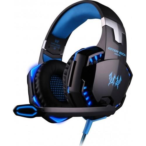 Επαγγελματικά Gaming Ακουστικά για Βιντεοπαιχνίδια – Kotion Each Headset G2000, σε μπλε χρώμα