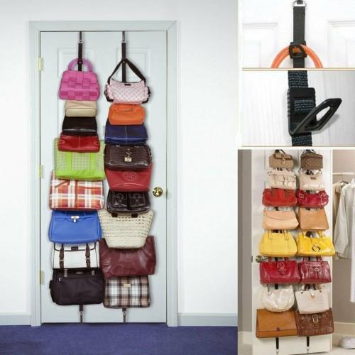 A Bag Rack Κρεμάστρα Για Τσάντες Με 16 Θέσεις Για Πόρτες ή Ντουλάπες