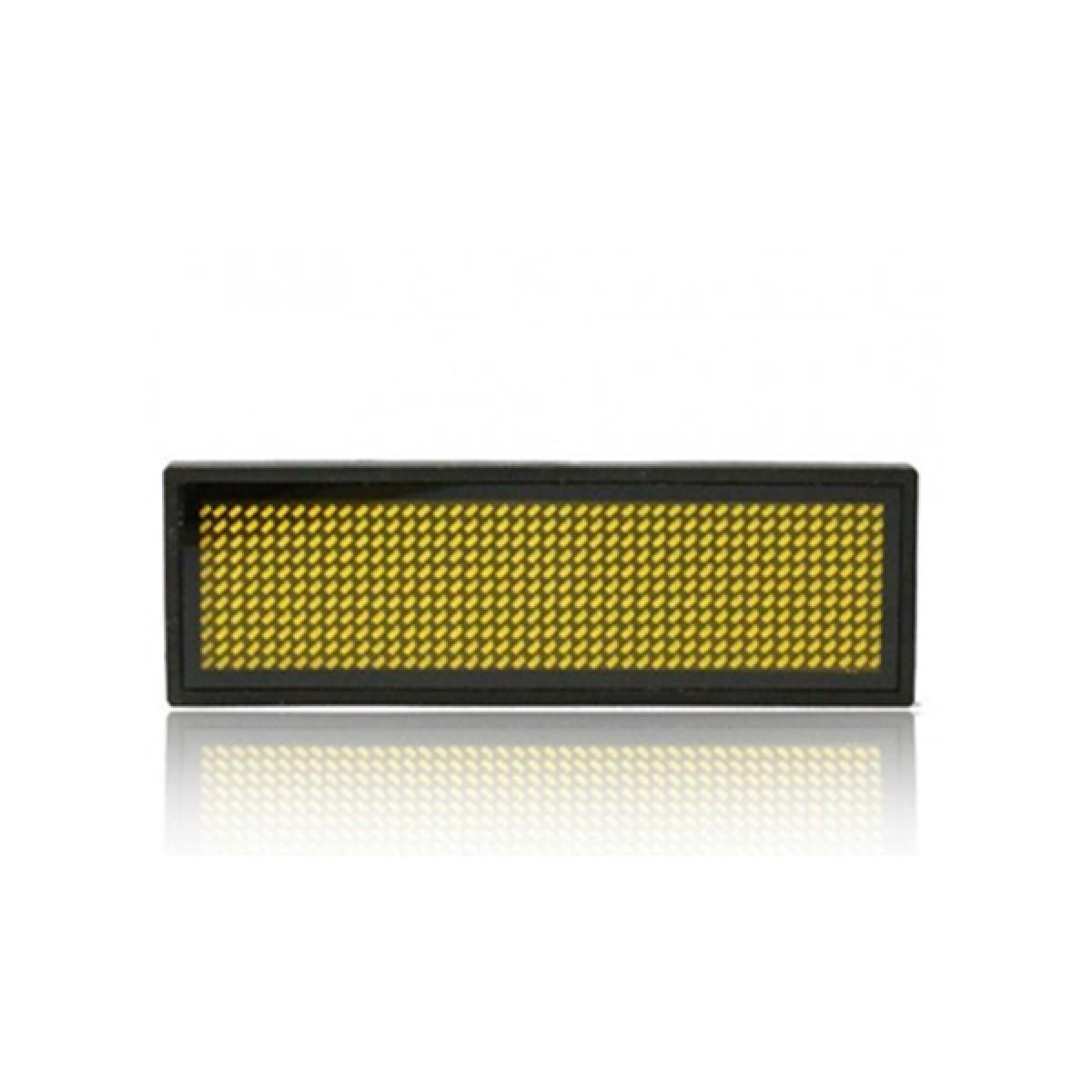LED Ταμπελάκι τύπου κονκάρδα κυλιόμενων μηνυμάτων κίτρινο χρώμα 8x3 cm B1236