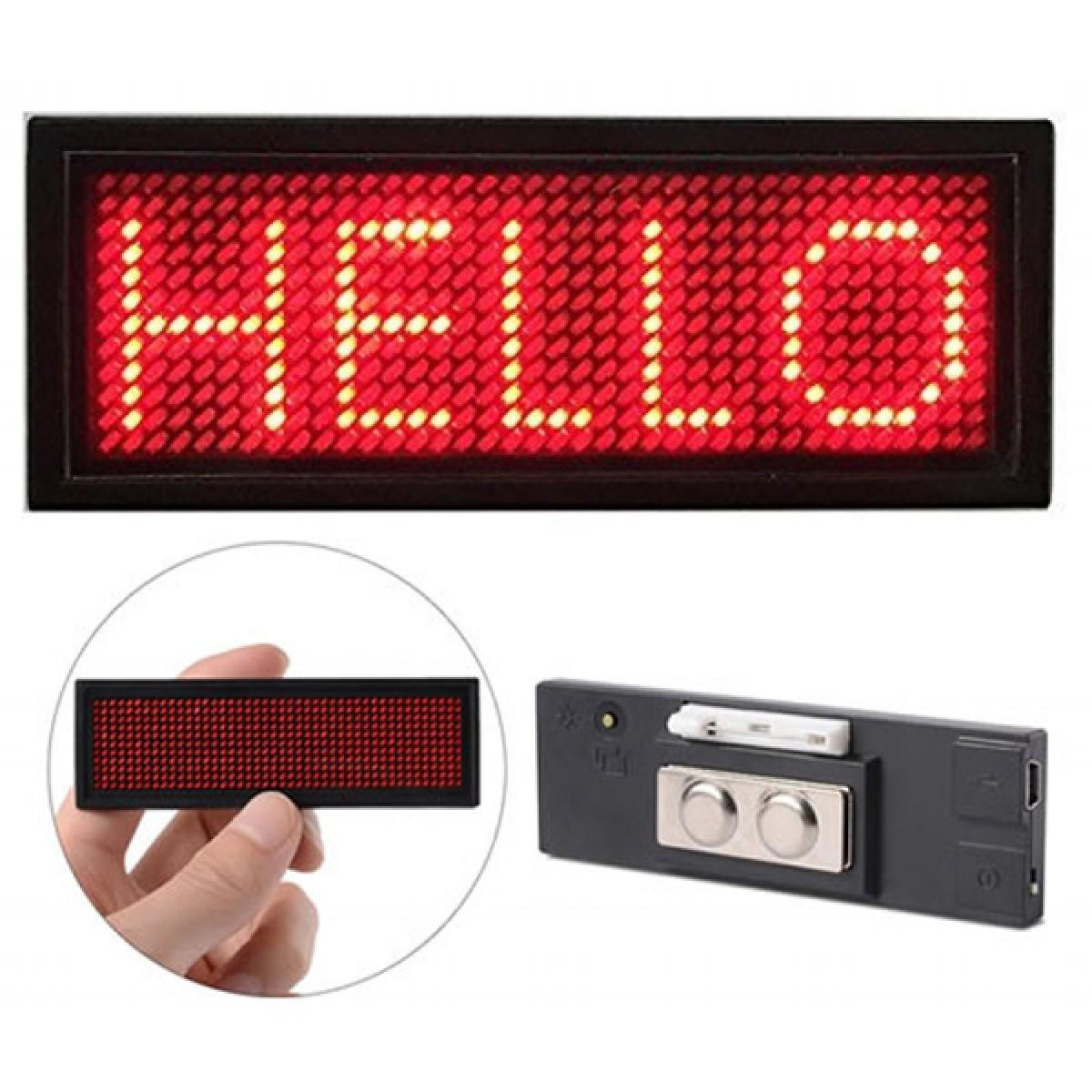 LED Ταμπελάκι τύπου κονκάρδα κυλιόμενων μηνυμάτων κόκκινο χρώμα 8x3cm B1236