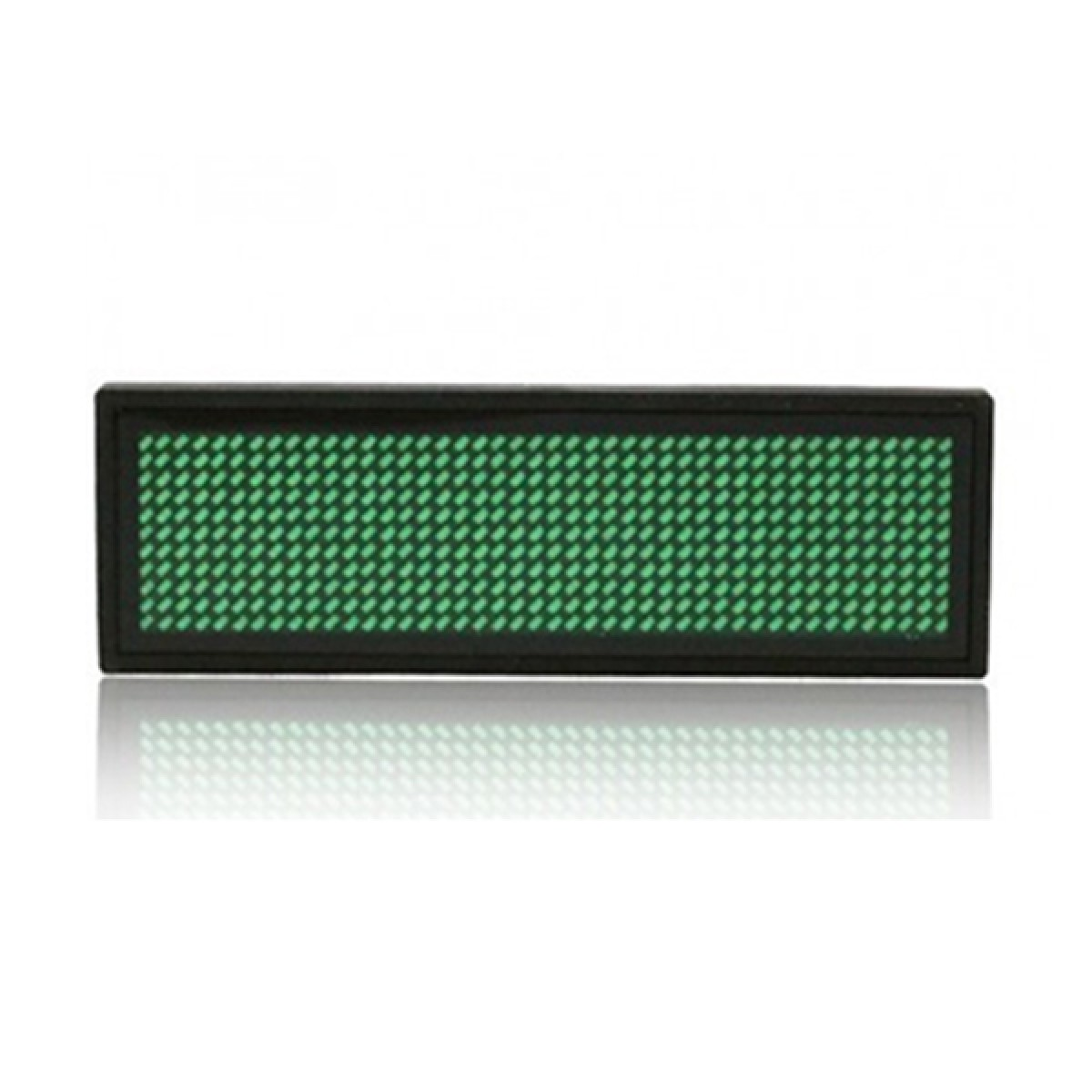 LED Ταμπελάκι τύπου κονκάρδα κυλιόμενων μηνυμάτων πράσινο χρώμα 8x3 cm B1236