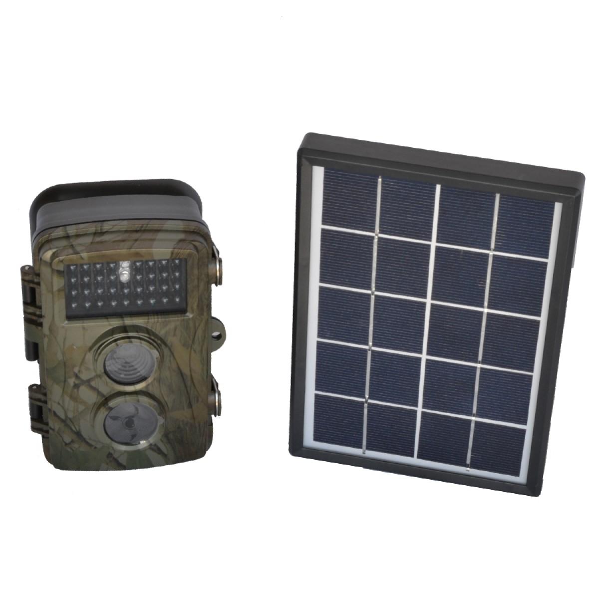 Κρυφή κάμερα με ανιχνευτη κίνησης-ηλιακό πάνελ-υπέρυθρα led
