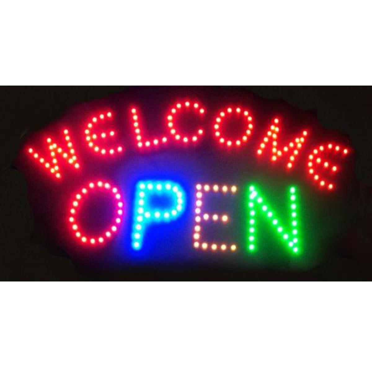 Φωτιζόμενη διαφημιστική πινακίδα LED '' WELCOME OPEN''-OEM
