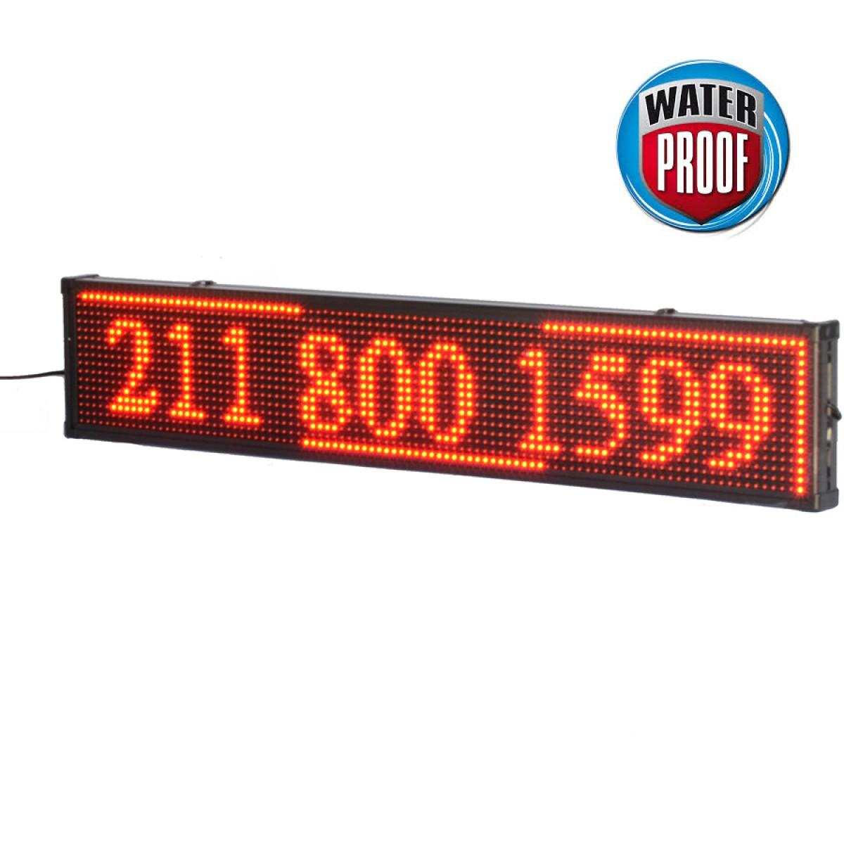 Πινακίδα LED ΑΔΙΑΒΡΟΧΗ κυλιόμενων μηνυμάτων 100x20 cm