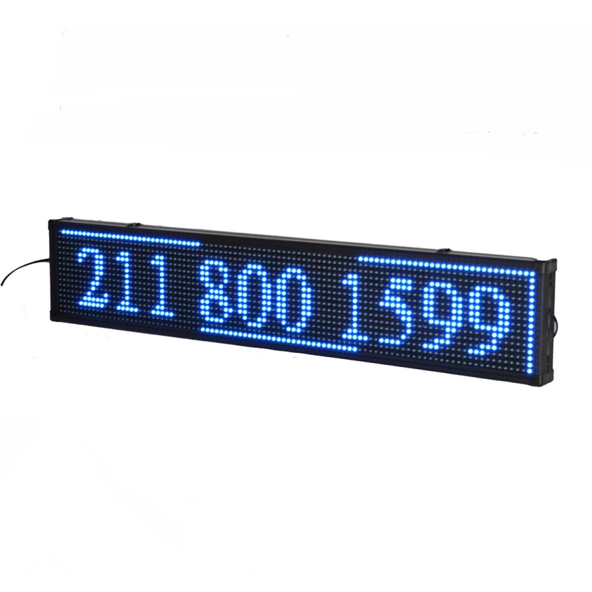 Πινακίδα LED κυλιόμενων μηνυμάτων 100x20 cm μπλέ