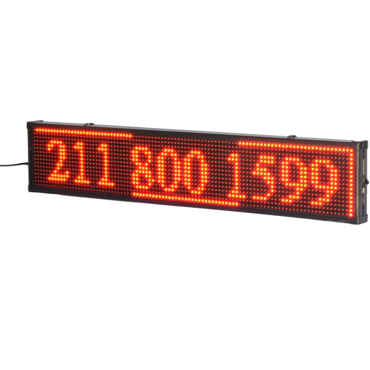 Πινακίδα LED κυλιόμενων μηνυμάτων 100x40 cm