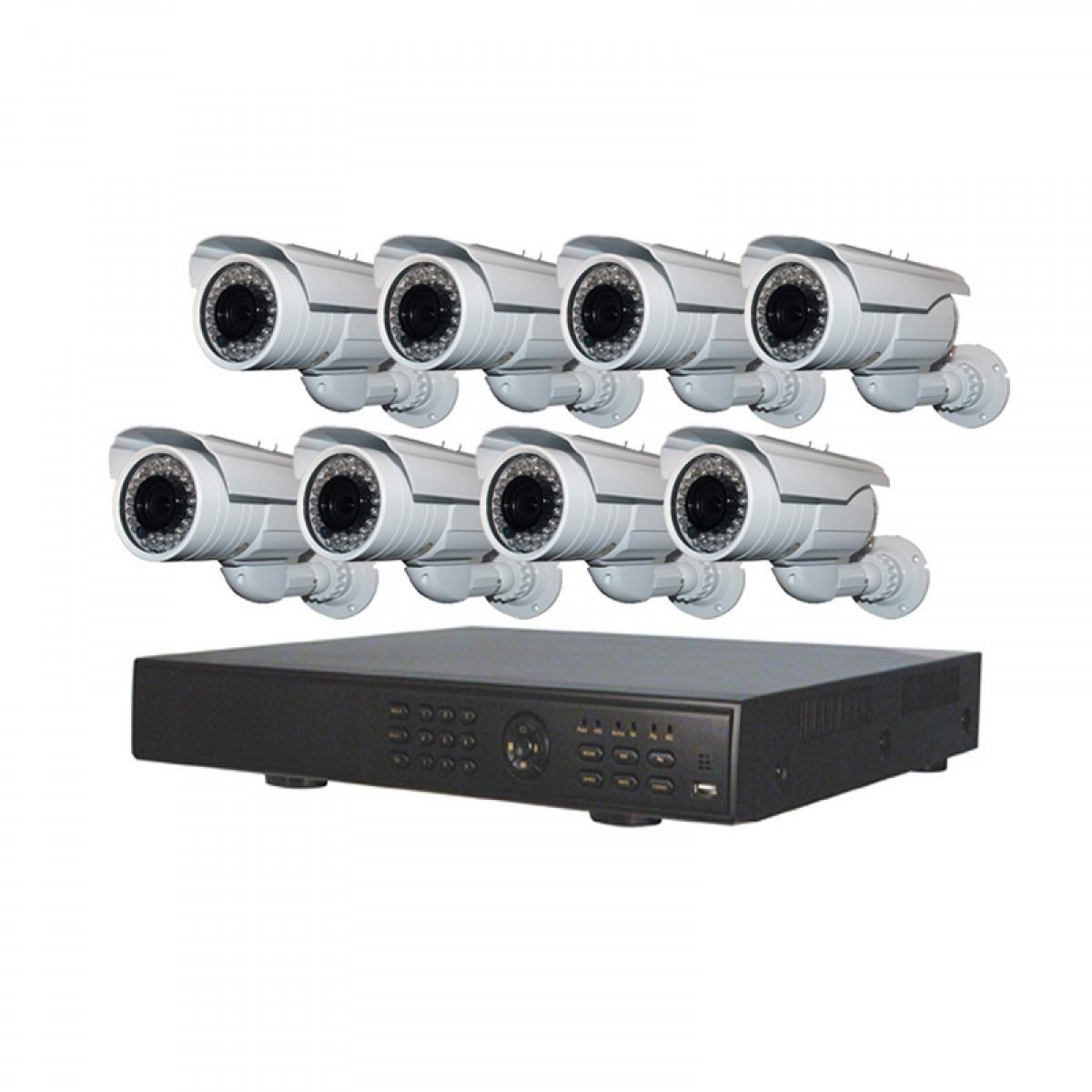 Πλήρες έγχρωμο σετ CCTV εποπτείας και καταγραφής με 8 Κάμερες και σύνδεση μέσω 3G SEGURITY SYSTEM