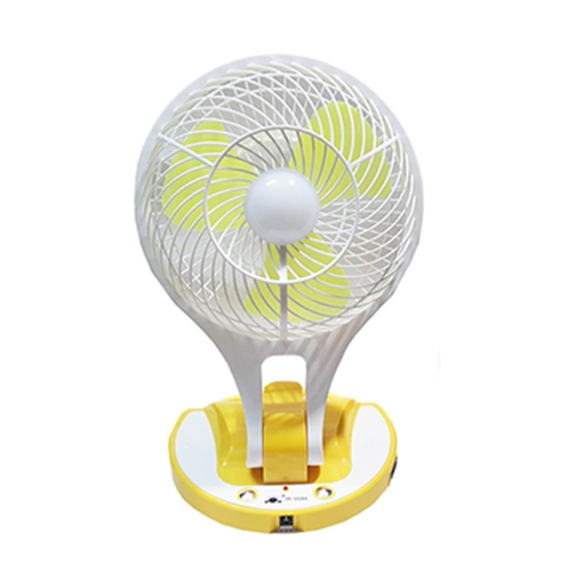 Φορητός Ανεμιστήρας 18εκ με Ισχυρό Φωτιστικό LED 200 Lumens JR-5580