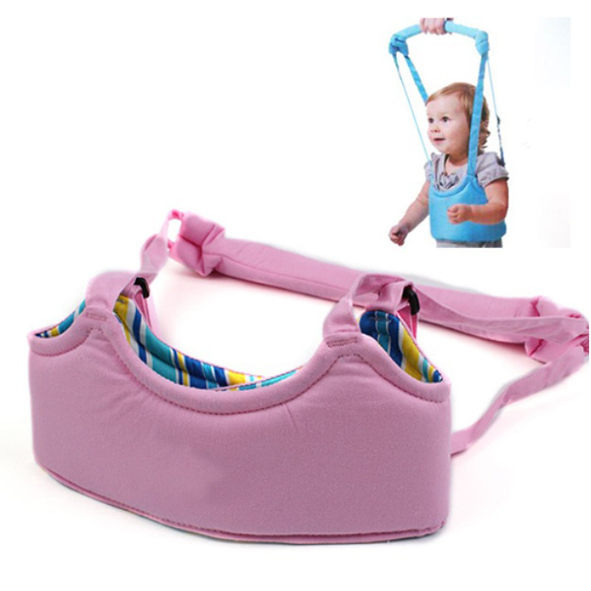 Περπατούρα Ζώνη Στήριξης Μωρού για τα Πρώτα του Βηματάκια ΡΟΖ- Baby Safety Walker-OEM