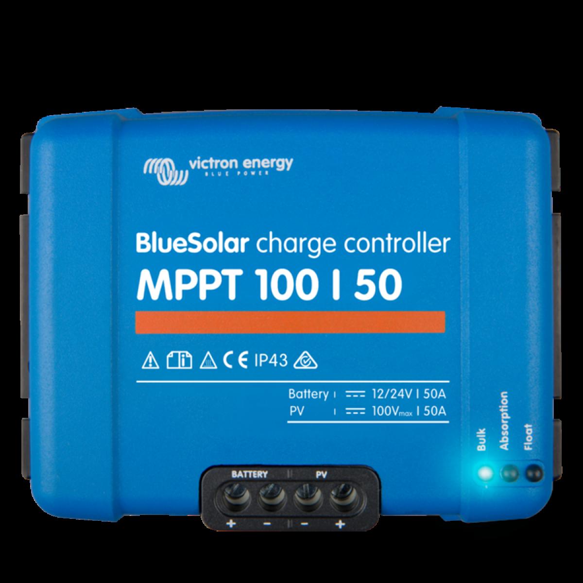 Ρυθμιστής Φόρτισης Victron MPPT Blue Solar 100/50 (12/24V-50A)