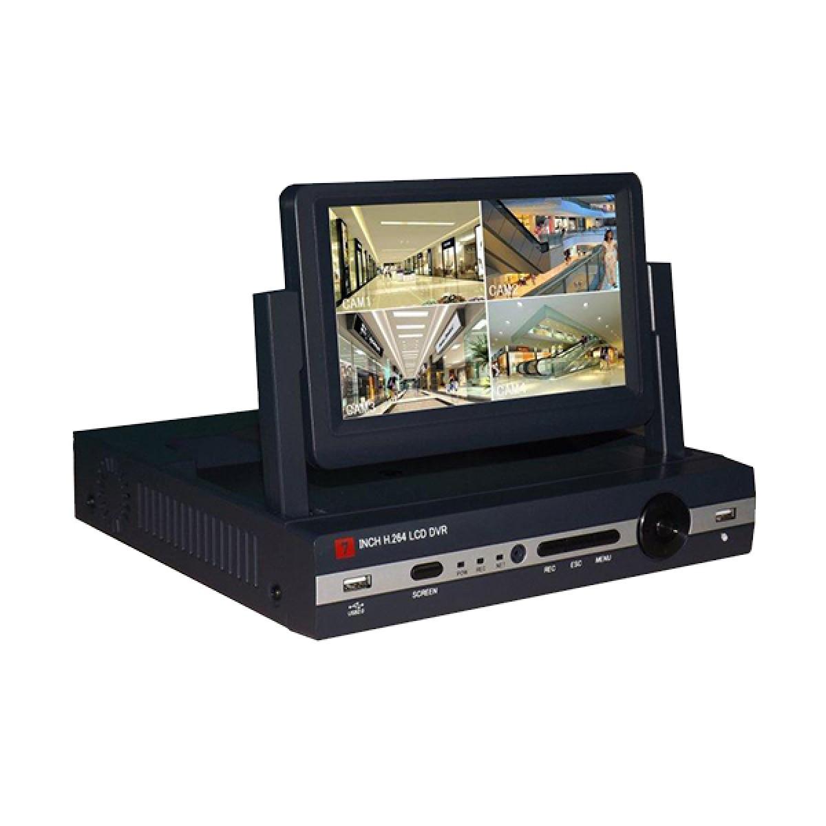 Σετ κλειστού κυκλώματος με Καταγραφικό με οθόνη 7'' και 4 Κάμερες HD NVR -OEM