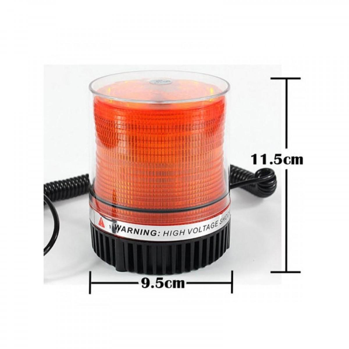Φάρος LED 12V Με Μαγνητική Βάση 9 εκατοστών-Πορτοκαλί-ΟΕΜ