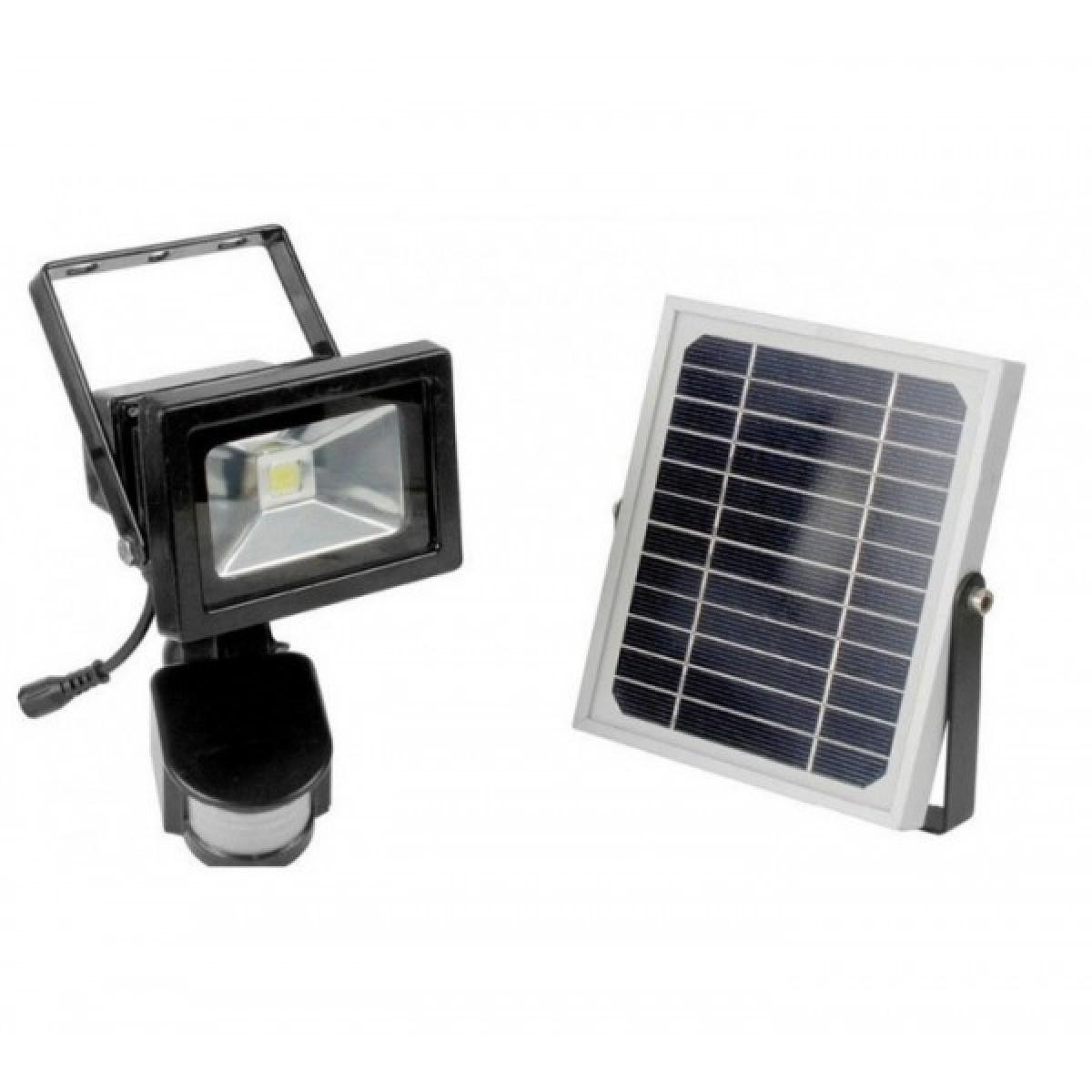 Ηλιακός LED προβολέας 10W με ανιχνευτή κίνησης & φωτοβολταϊκό συλλέκτη