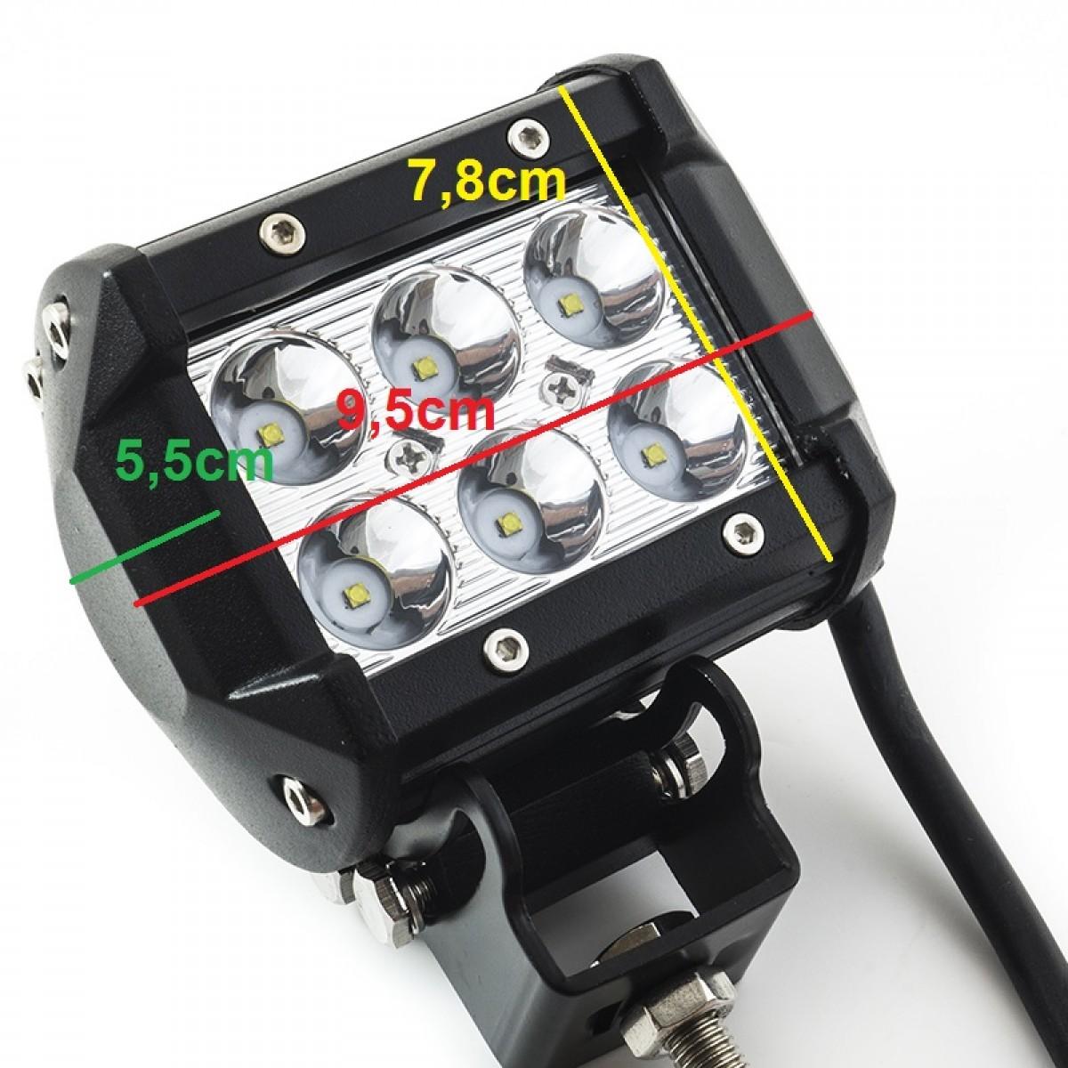 Προβολέας LED 18W 60° δουλεύει από 12V έως καί 32V για βάρκες τρακτέρ φορτηγά αυτοκίνητα