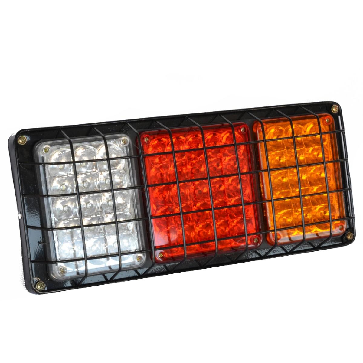 Universal φανάρι πίσω 55 LED 24V για τρακτέρ φορτηγά αυτοκίνητα (όπισθεν, πορεία-στοπ, φλας)