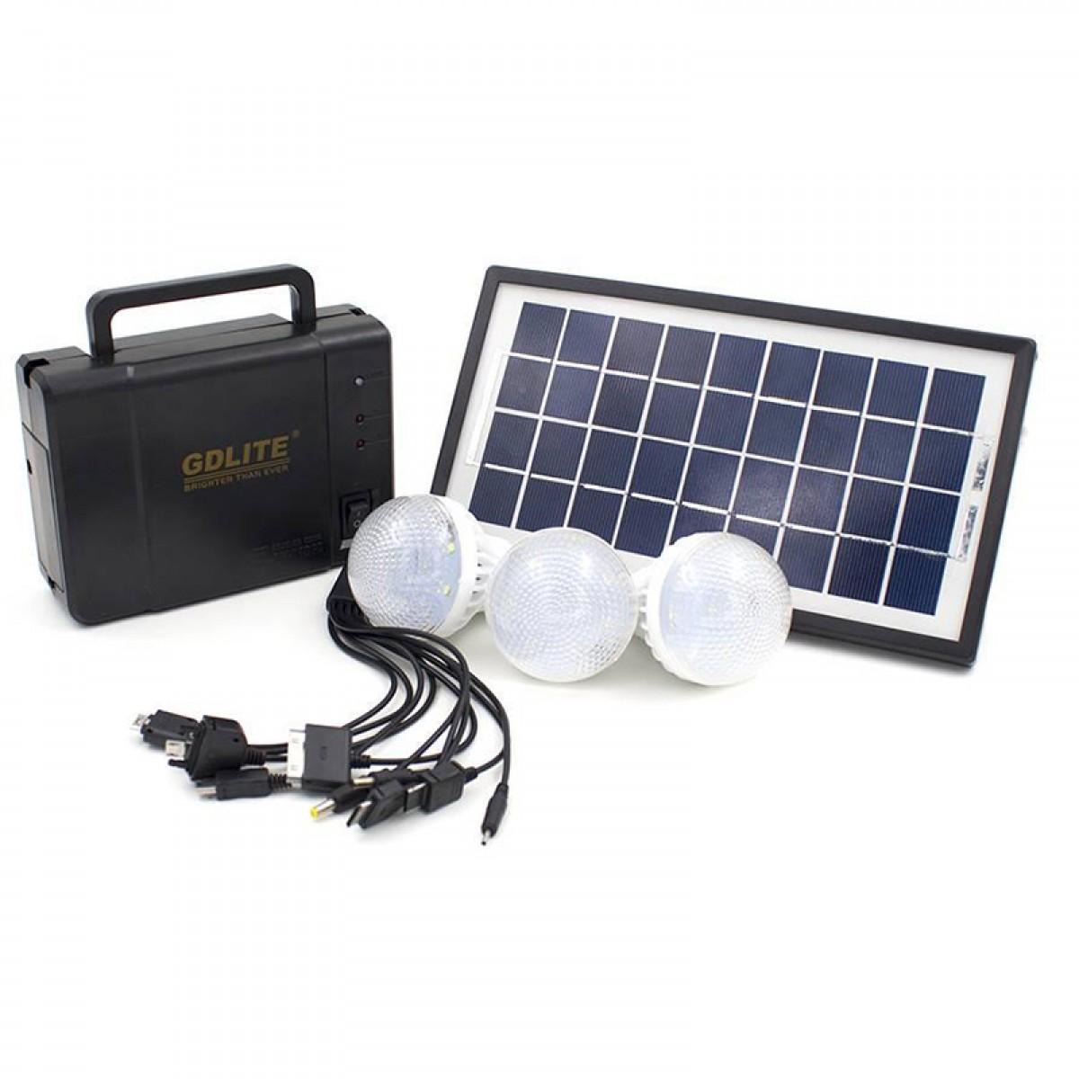 Ηλιακό σύστημα φωτισμού GDLITE με 3 λάμπες LED