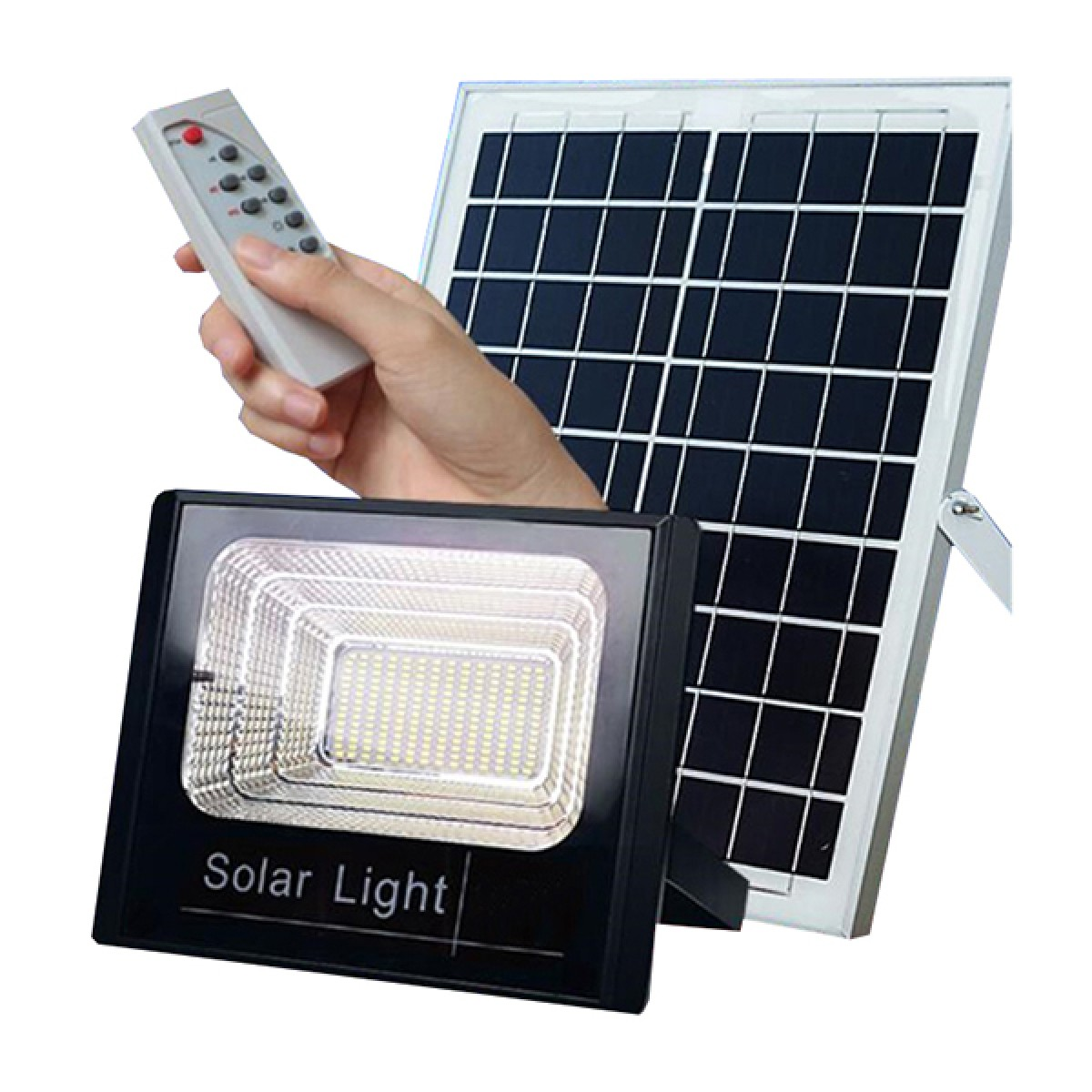 Ηλιακός προβολέας ανάβει μόλις νυχτώσει και σβήνει όταν ξημερώσει εξωτερικού χώρου Solar light JD-8860 60W