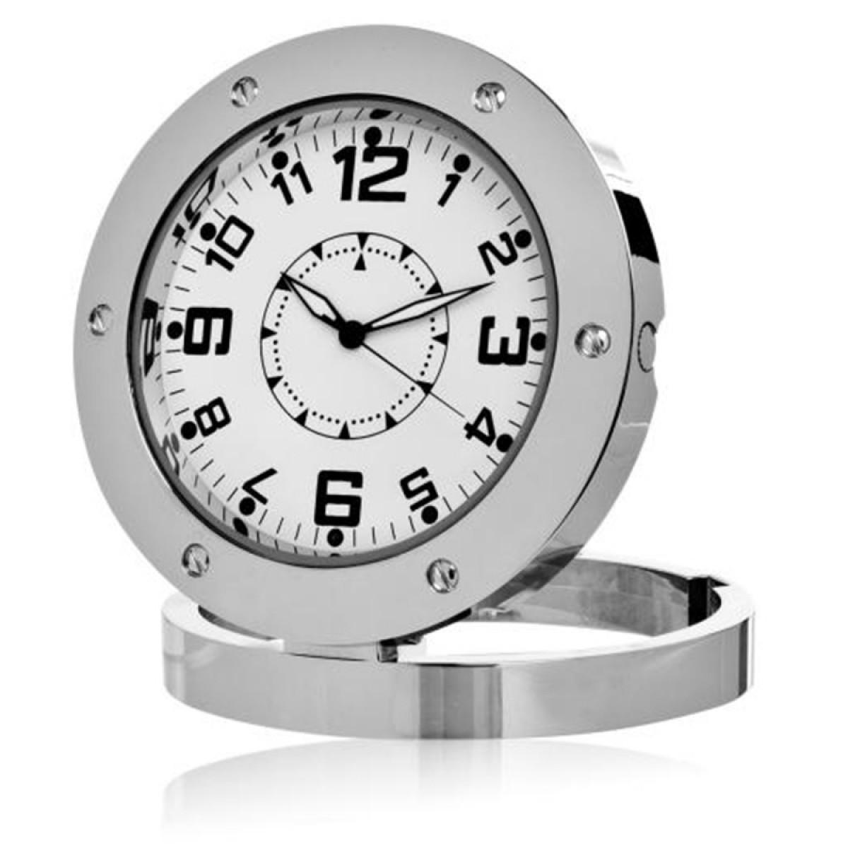 Κρυφή Κάμερα σε Ρολόι Επιτραπέζιο με Ανίχνευση Ηχου - Spy Clock Cam-OEM