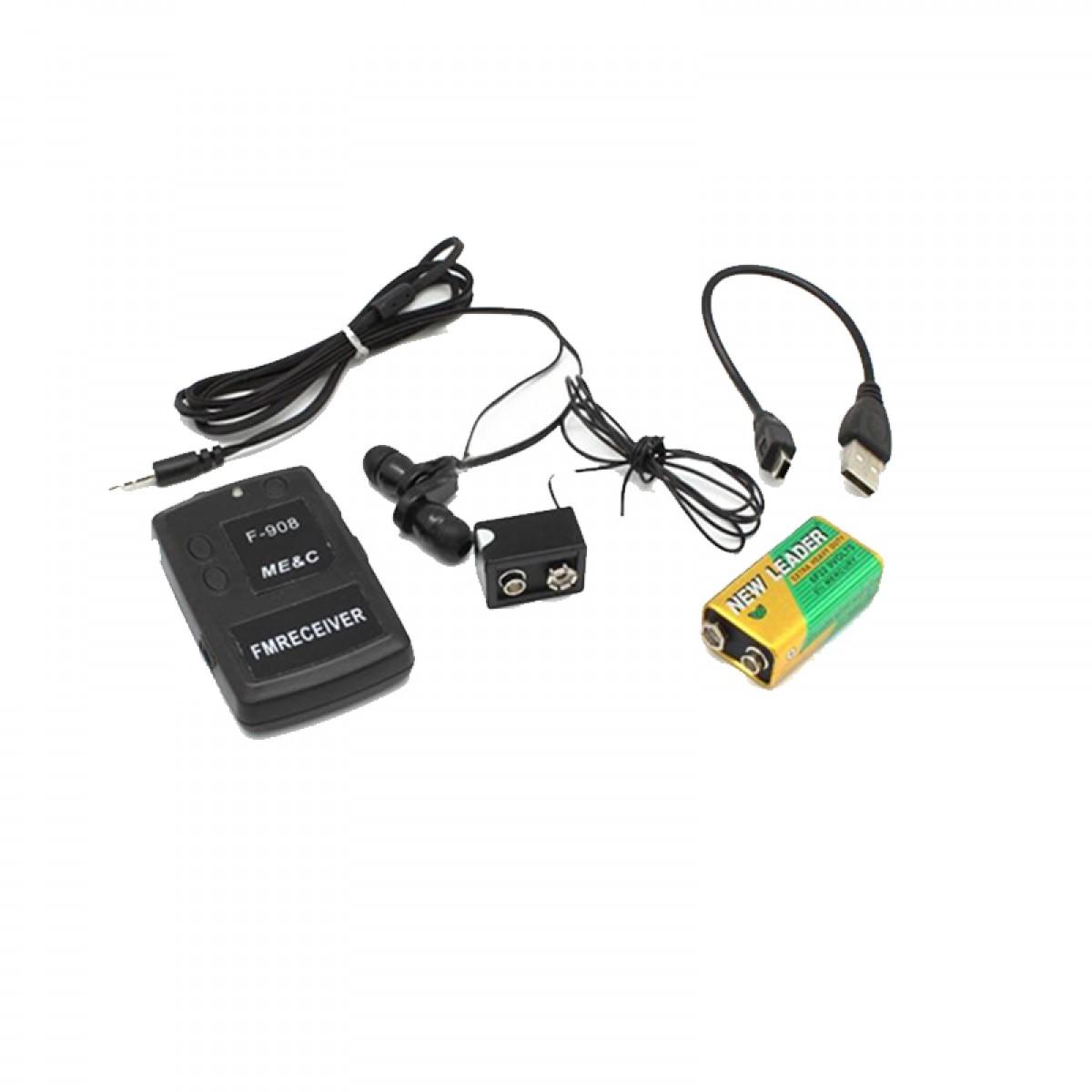 Ασύρματο Φορητό Συχνόμετρο με ραδιοφωνικο σέκτη FM και Ακουστικά ψείρες F-908