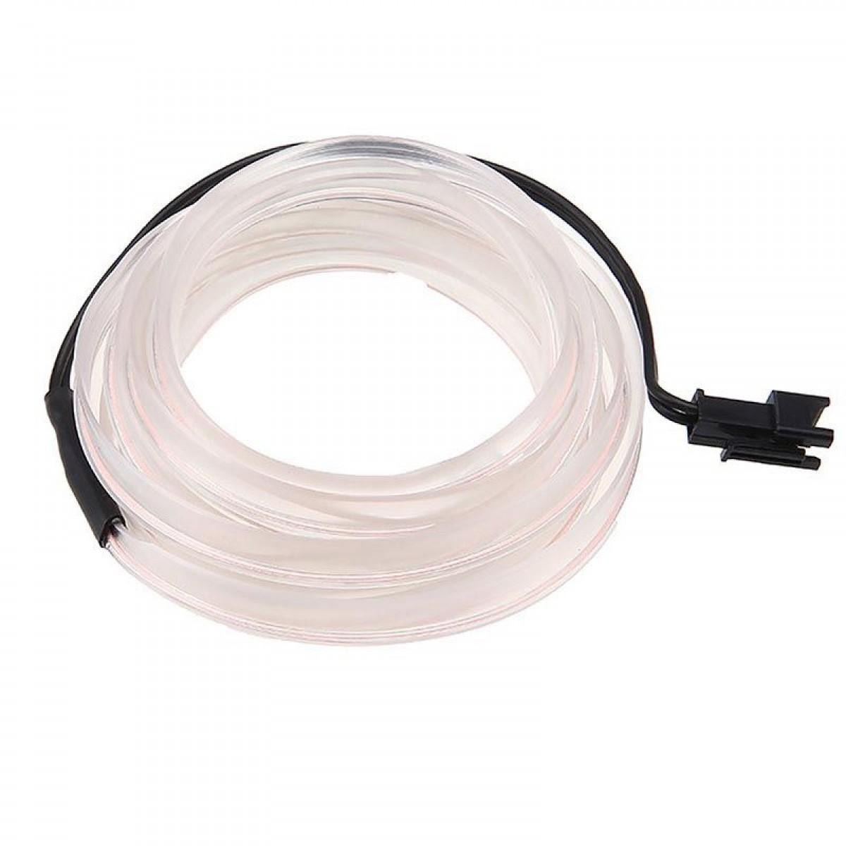 Εύκαμπτο LED καλώδιο 2m για την εσωτερική διακόσμηση κάθε αυτοκινήτου - El wire- ΛΕΥΚΟ