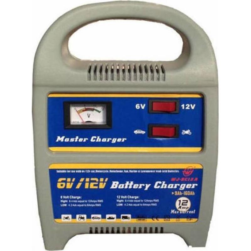 Φορτιστής μπαταρίας 6V & 12V 12AH WJ-BC12A