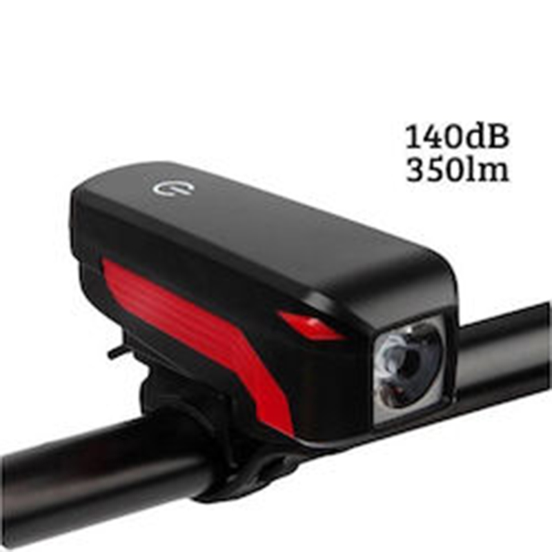 Σετ Αδιάβροχα Φώτα Πορείας Ποδηλάτου LED 350LM & Κόρνα Σειρήνα 140dB 2 σε 1 με Δώρο Πίσω Φώτα