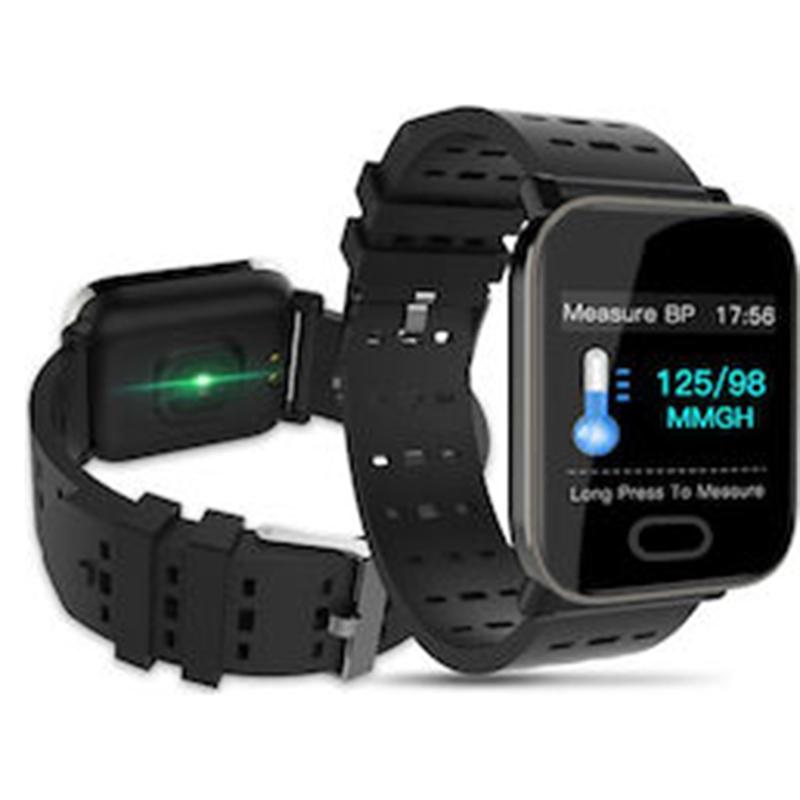 Smart Bracelet Heart Rate Monitor IP67 Waterproof Bluetooth 4.0- Μαύρο / Γκρί