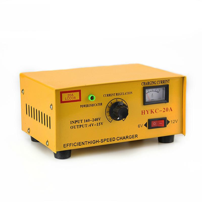 Φορτιστής μπαταρίας 6V & 12V 20AH HYKC-20A