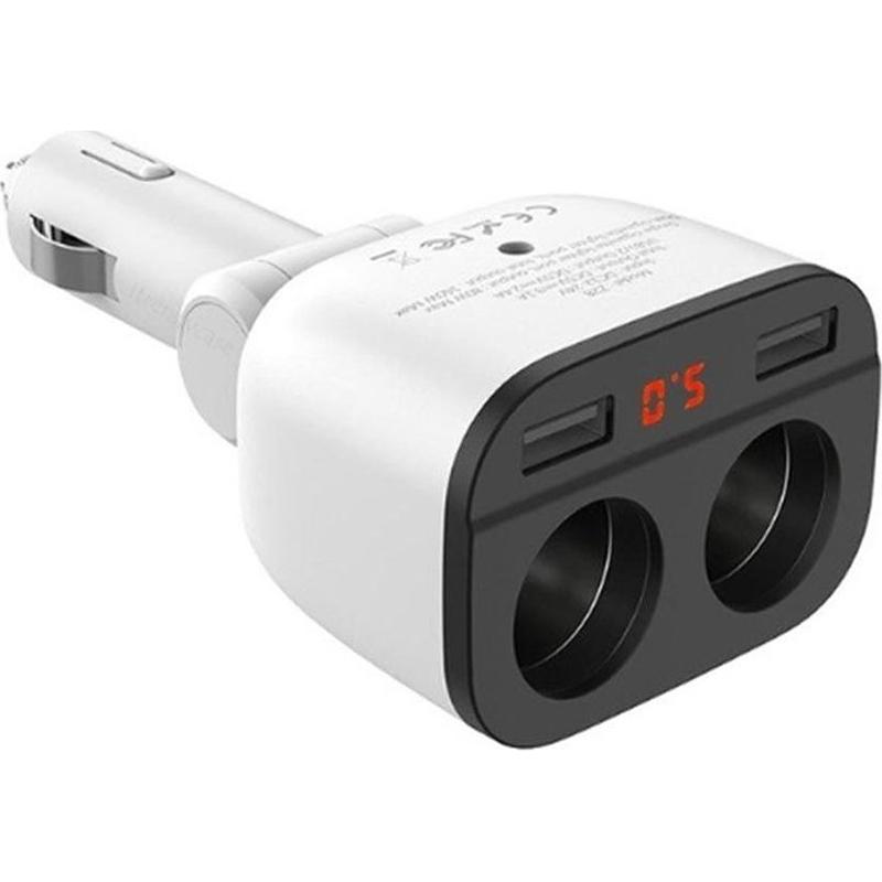 Φορτιστής Αυτοκινήτου με Διπλή υποδοχή για Αναπτήρα – Power Ocean Dual USB 3.1A – Hoco Z28
