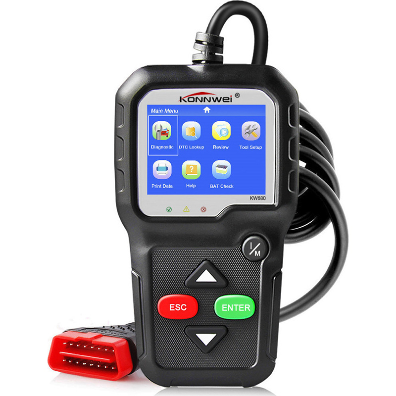 Ψηφιακό διαγνωστικό αυτοκινήτων OBDII/EOBD Konnwei KW680