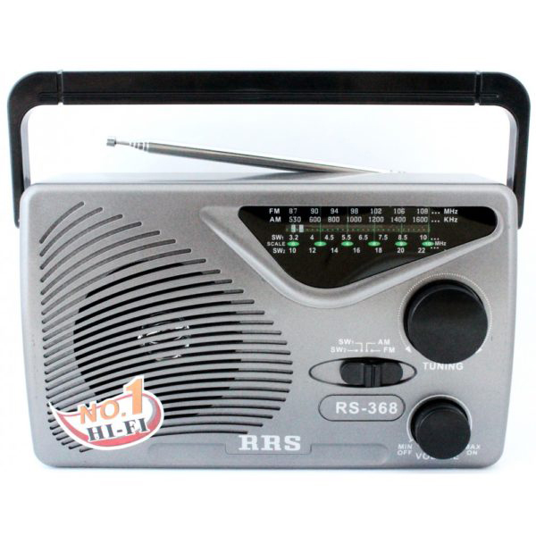 Φορητό Αναλογικό Ραδιόφωνο Σε ΓΚΡΙ ΧΡΩΜΑ FM/AM – ΟΕΜ RRS RS-368