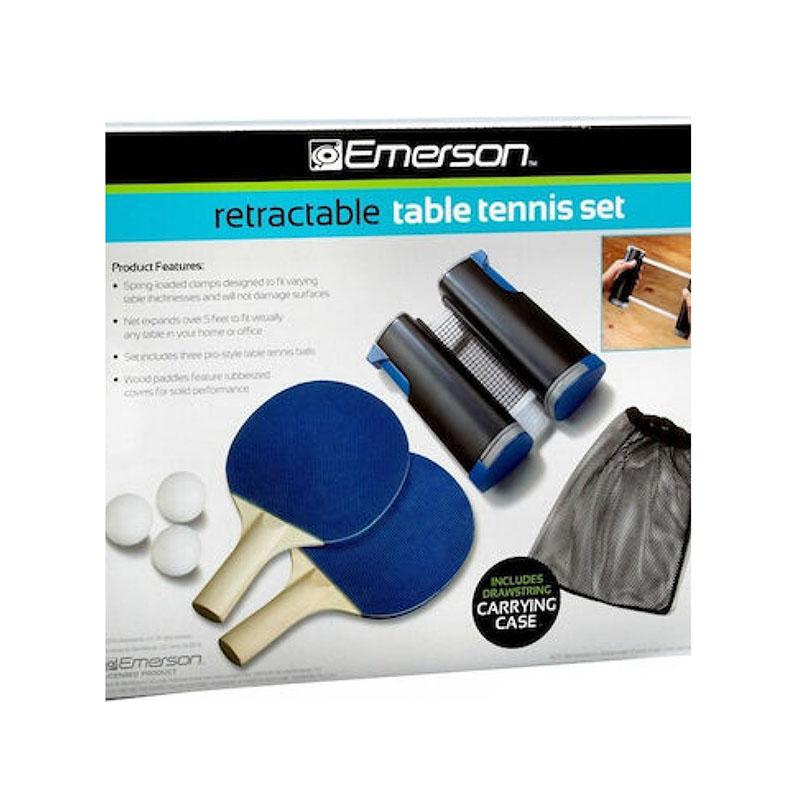 Φορητό Set Ping Pong Retractable Table Tennis Emerson