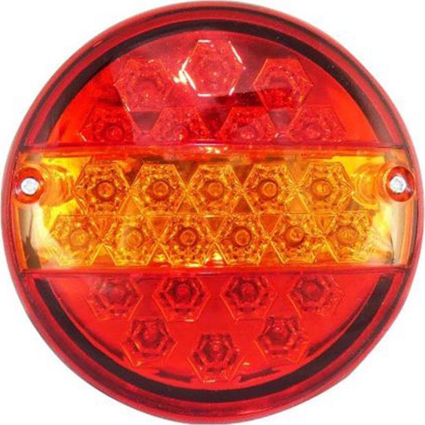 ΣΤΡΟΓΓΥΛΟ ΦΑΝΑΡΙ ΓΙΑ ΠΙΣΩ 12V 25 LED TAIL LIGHTS REAR LAMP FOR TRUCK