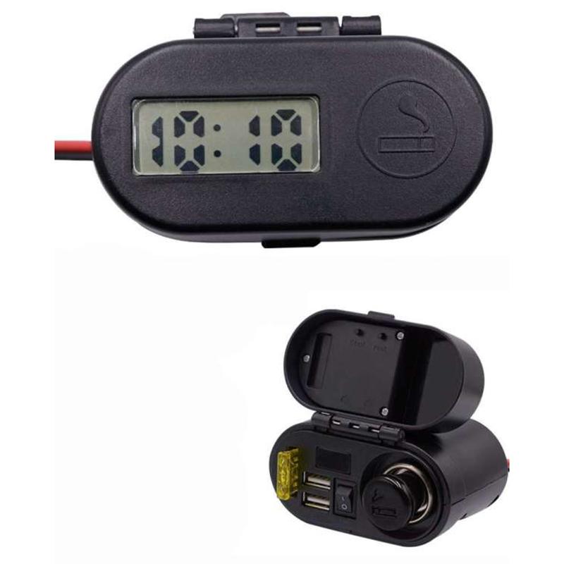 Πολυλειτουργικός Φορτιστής με θύρες USB, Βολτόμετρο και Αναπτήρας μηχανής 12/24V, CD-3068