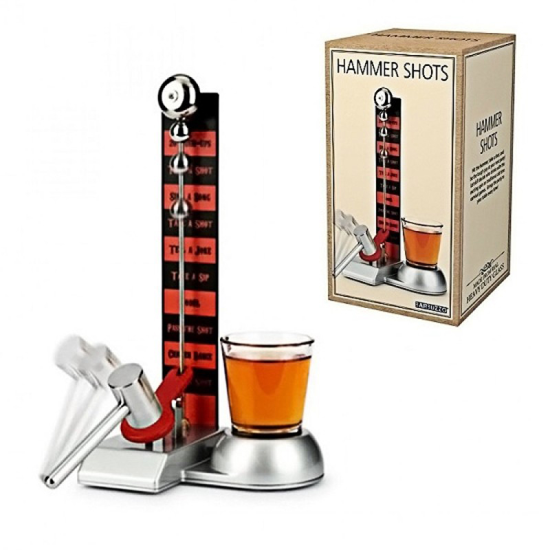 HAMMER SHOTS PARTY DRINKING GAME WITH SHOT GLASS TOWER DRINKING GAME (OEM)