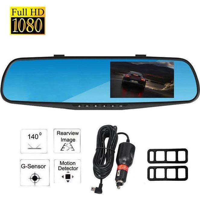 Καθρέπτης Αυτοκινήτου FHD 1080p DVR Κάμερα Καταγραφικό με LCD TFT Οθόνη 3.5'' & Ανίχνευση Κίνησης