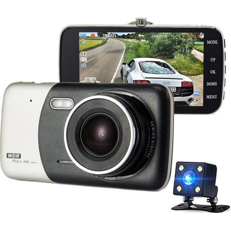 Mini DVR Κάμερα Αυτοκινήτου Full HD 1080P με Κάμερα Οπισθοπορείας, Αισθητήρα Κίνησης, Νυχτερινή Λήψη & G Sensor