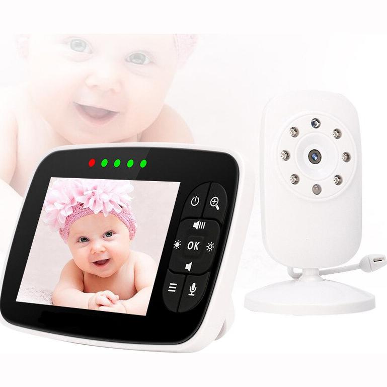Baby Monitor 3.5″ LCD με Αισθητήρα IR, Θερμοκρασίας, Νυχτερινή Λήψη & Ενδοεπικοινωνία SM-35