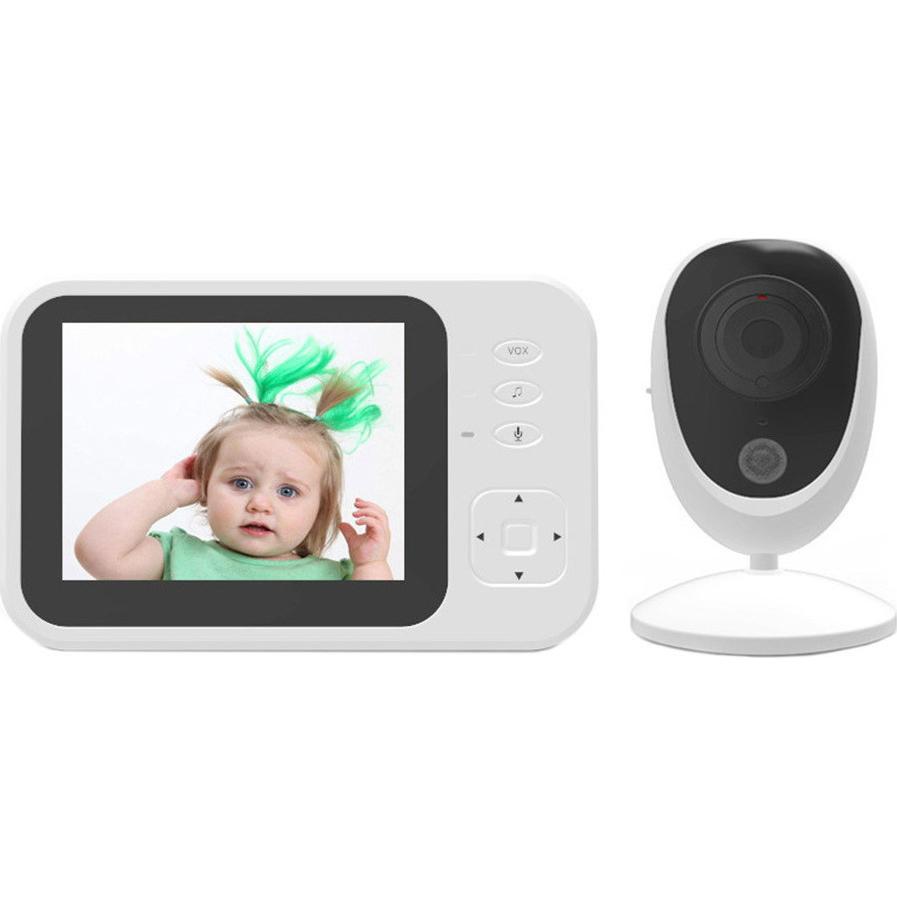 Baby Monitor 3.5″ LCD SM-35R με Αισθητήρα IR, Θερμοκρασίας, Νυχτερινή Λήψη & Ενδοεπικοινωνία