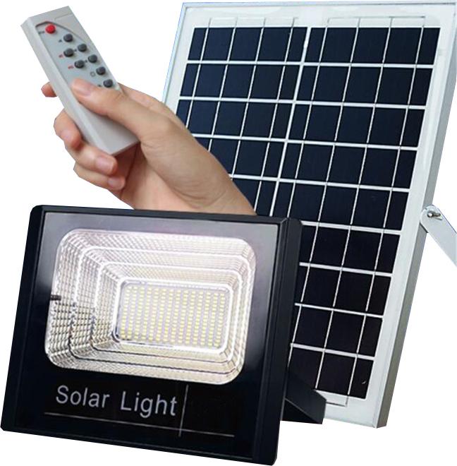 Ηλιακός Solar Προβολέας Αδιάβροχος 200W με Φωτοβολταϊκό Πάνελ, Τηλεκοντρόλ και Χρονοδιακόπτη,JD-8200